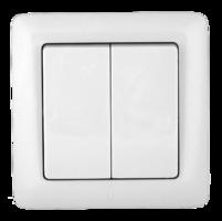 ХИТ Выключатель двухклавишный скрытый 250В 6А белый VS56-234-B Schneider Electric, цена, купить
