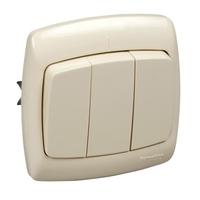 Рондо Выключатель 3 клавиши слоновая кость скрытый VS05U-321-SI Schneider Electric, цена, купить