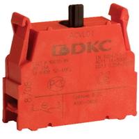 Блок контактный 1НО с клеммными зажимами под винт ACVL02 DKC, цена, купить