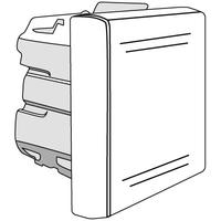 Выключатель однополюсный, «Viva», 2 модуля , серый код 45031 DKC (ДКС) купить по оптовой цене