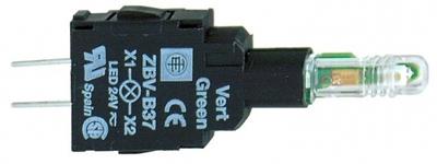 Светодиод 24В зеленый Schneider Electric ZBVB37 XB5 Блок подсветки на печ.пл) монтаж плате цена, купить