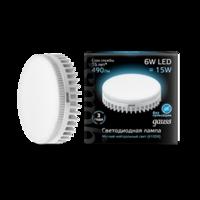Лампа светодиодная Black GX53 6Вт таблетка 4100К бел. 490лм 150-265В Gauss 108008206 LED 220В купить в Москве по низкой цене