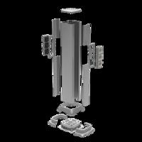 Алюминиевая колонна 0,71 м, цвет серый металлик код 09591 DKC (ДКС) купить по оптовой цене