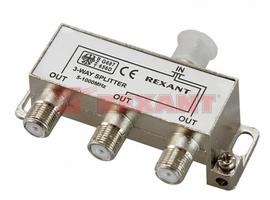 Сплиттер (разветвитель-сумматор) 1х3 5-1000MHz 7dB Rexant 05-6002 REXANT купить по оптовой цене