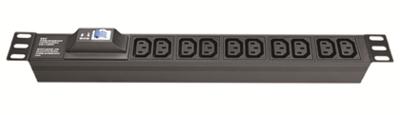 Блок розеток для 19 шкафов, 8 розеток IEC60320 С13, автомат защиты 1Р R519iec8cbc14 DKC, цена, купить