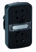ГОЛОВКА КНОПКИ ДВОЙНАЯ БЕЗ ВСТАВОК + LED ZB4BW7A9 | Schneider Electric для цена, купить