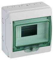 Щит распределительный навесной ЩРн-П-8 пластиковый белый прозрачная дверь IP65 Kaedra (13978) Schneider Electric купить по оптовой цене