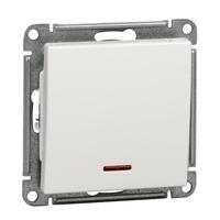 Механизм выключателя 1-кл. W59 с подсвет. самовозвр. 10АХ бел. SchE VS110-151-1-86 Schneider Electric купить по оптовой цене
