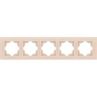 Рамка 5 постовая крем Zena EL-BI | 500-010300-250 ABB купить по оптовой цене