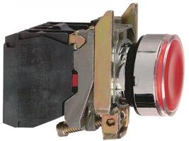 Кнопка красная с подсветкой 110В Schneider Electric 22мм 48-120В возвр инд XB4BW34G5 цена, купить