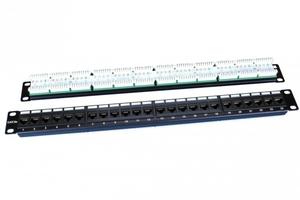 Патч-панель 19 1U 24 порта RJ45 категория 5e Dual IDC ROHS черный 246095 Hyperline, цена, купить