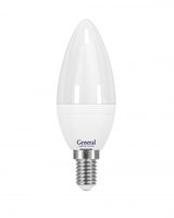 Лампа светодиодная LED 7Вт Е14 220В 2700К GLDEN-CF-7-230-E14-2700 | 637900 General купить по оптовой цене