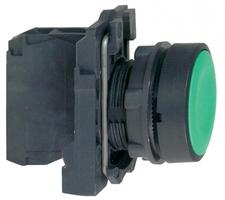Кнопка зеленая без фиксации 22 мм 1но Schneider Electric XB5AA31 С ВОЗВРАТОМ подсветки купить в Москве по низкой цене