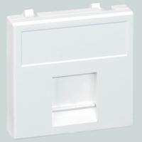 Адаптер на 1 RJ45 коннектор защ. шторки бел. SimonConnect K76-9 купить по оптовой цене