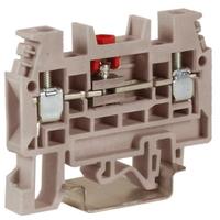 Зажим винтовой 4мм.кв тестовый с разъединителем бежевый SCB.4 ZSB300 DKC, цена, купить