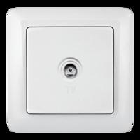 ХИТ Розетка телевизионная TV наружная оконечная белая RAT-1A3-B Schneider Electric, цена, купить