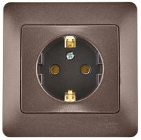 Розетка 1-м СП 1мод. Glossa 16А IP20 с заземл. в сборе шоколад SchE GSL000842 Schneider Electric купить в Москве по низкой цене