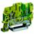 Пружинная клемма заземления со штыревым контактом. Желто-зеленая. 2,5 кв. мм. | ZHVT500 DKC (ДКС)