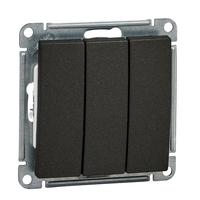 Механизм выключателя 3-кл. W59 10АХ черн. бархат SchE VS0510-351-6-86 Schneider Electric купить по оптовой цене