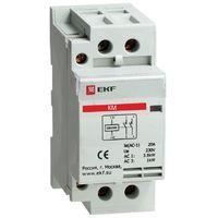 Модульный контактор для распределительного щита 16А 230-400В напряжение управления 184В 2НО 1000Вт 576ВА EKF КМ Модульные контакторы купить по оптовой цене