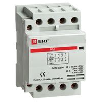 Модульный контактор для распределительного щита 25А 230-400В напряжение управления 184В 4НО 0НЗ 1300Вт 720ВА EKF КМ Модульные контакторы купить по оптовой цене