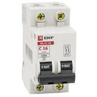 Автоматический выключатель (автомат) 1-полюсный (1P) 100А хар. C 10кА EKF ВА-47 Автоматические выключатели MCB4729-2-50C купить по оптовой цене