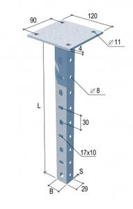 Универсальная потолочная стойка усиленная
