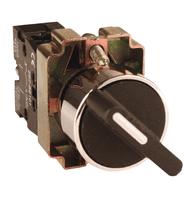 Селекторный переключатель 2-позиц. с рукояткой 1НО 1НЗ 0 переключ. конт. 220-230В черный IP40 EKF купить по оптовой цене